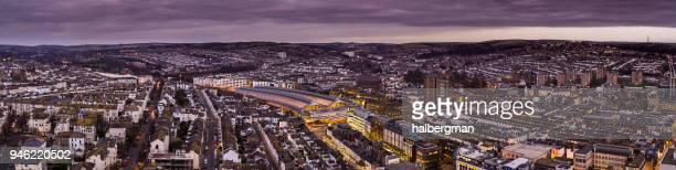 Aerial Panorama of Brighton at Twilight