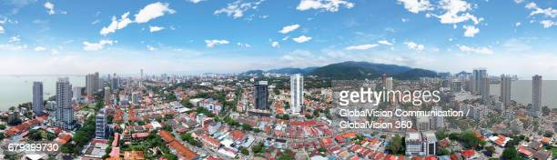 Aerial Panorama of George Town, Penang, Malaysia