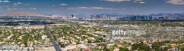 Aerial Panorama of Las Vegas Looking East