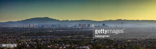 Aerial Panorama of Las Vegas Looking West
