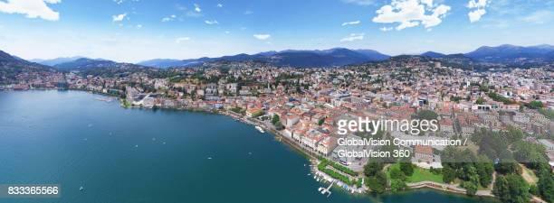 Aerial Panorama of Lugano, Switzerland