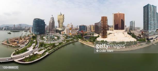 Aerial panorama of Macau skyline