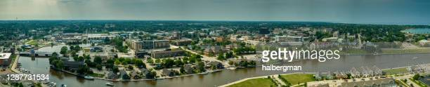 シェボイガンの空中パノラマ,ウィスコンシン州 - ウィスコンシン州シボイガン ストックフォトと画像