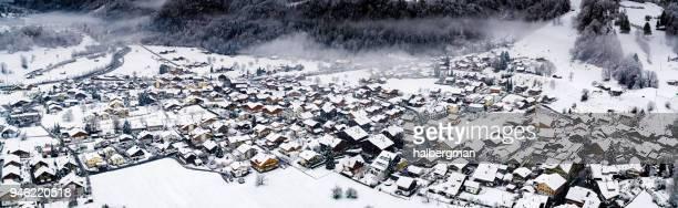 Aerial Panorama of Wilderswil, Switzerland