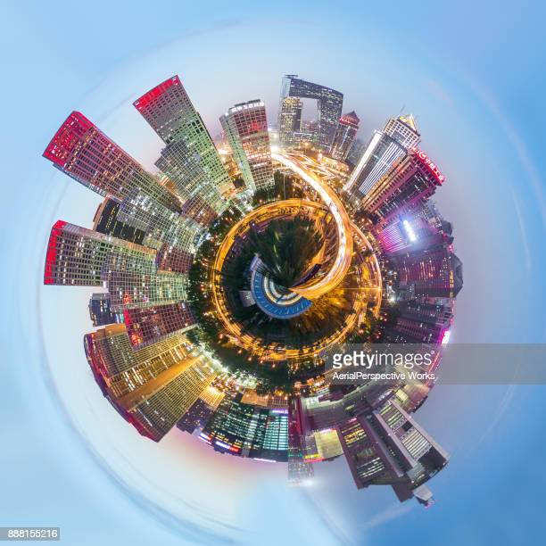 360° Aerial Panorama View of Beijing
