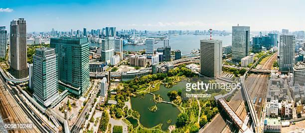 Aerial Panoramic of Tokyo Skyline