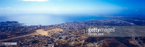 Aerial panoramic view  of Porlamar city