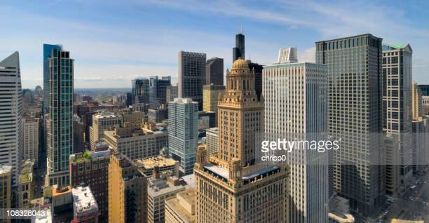 Aerial Panoramablick auf das Chicago Loop (XXXL