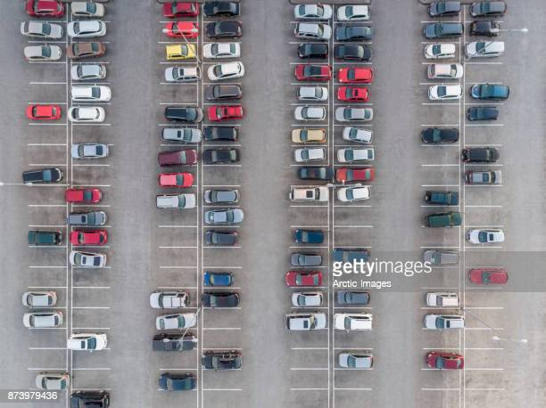 aerial - parking lot - car park stock pictures, royalty-free photos & images