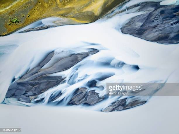 Aerial - Patterns in a Glacial River, Thjorsa, Iceland