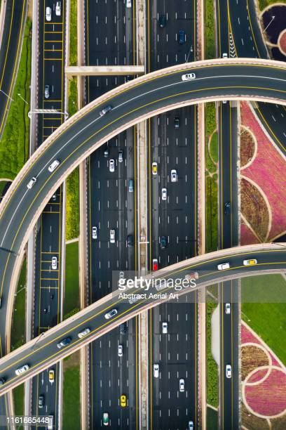 Aerial perspective of Sheikh Zayed road, United Arab Emirates