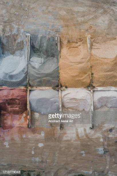 aerial perspective showing a pile of construction materials, france - sarthe stock pictures, royalty-free photos & images