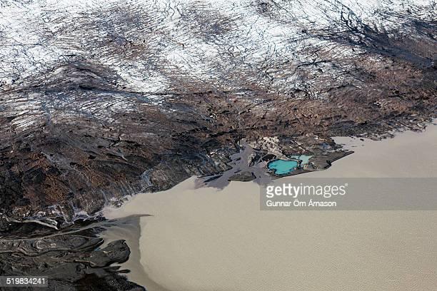 aerial photo icelandic glacier - gunnar örn árnason stock pictures, royalty-free photos & images