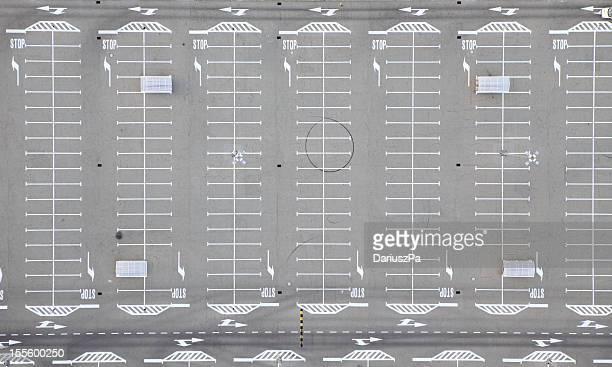 Foto Aérea de um parque de estacionamento
