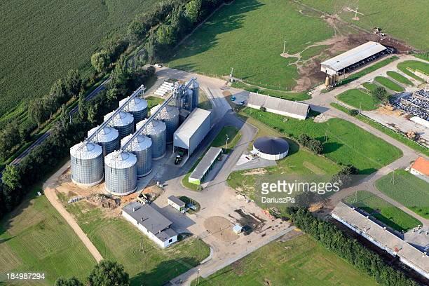 Foto Aérea de armazenamento de produtos agrícolas