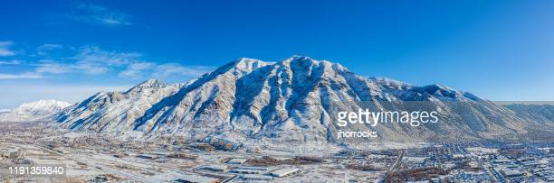 aerial photo of buckley mountain - provo stock pictures, royalty-free photos & images