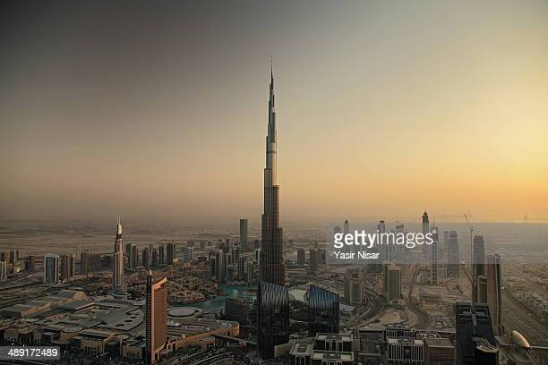 Aerial photo of Burj Khalifa