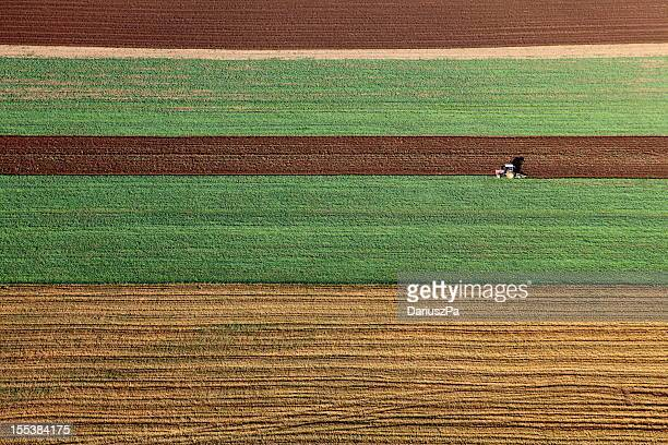 aerial photo of farmland - cultivated land stock pictures, royalty-free photos & images
