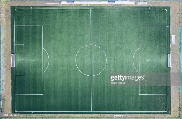 Foto aérea de campo de fútbol americano