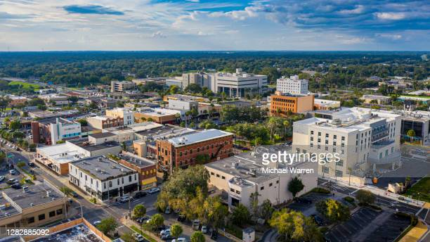 aerial photo of historic downtown ocala - gulf coast states stock pictures, royalty-free photos & images