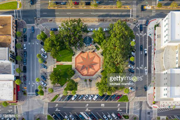aerial photo of historic town square - square stock pictures, royalty-free photos & images