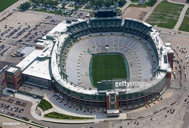Aerial photo of Lambeau Field
