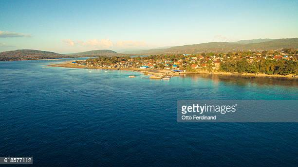 aerial photo of makasar island near bau-bau, southeast sulawesi - helicopter photos stock pictures, royalty-free photos & images