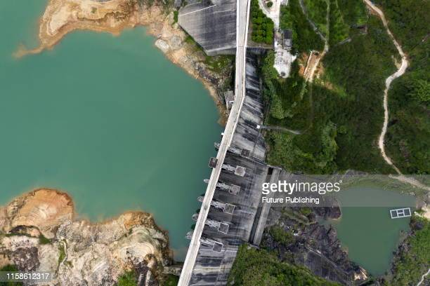 Aerial photo of nangao reservoir luhe river guangdong province China July 27 2019 PHOTOGRAPH BY Costfoto / Barcroft Media