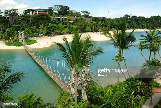 Aerial photo of Palawan Beach in Sentosa, Singapore