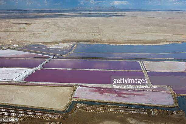 aerial photo of sea salt pans, swakopmund, namibia, africa - salinity stock pictures, royalty-free photos & images