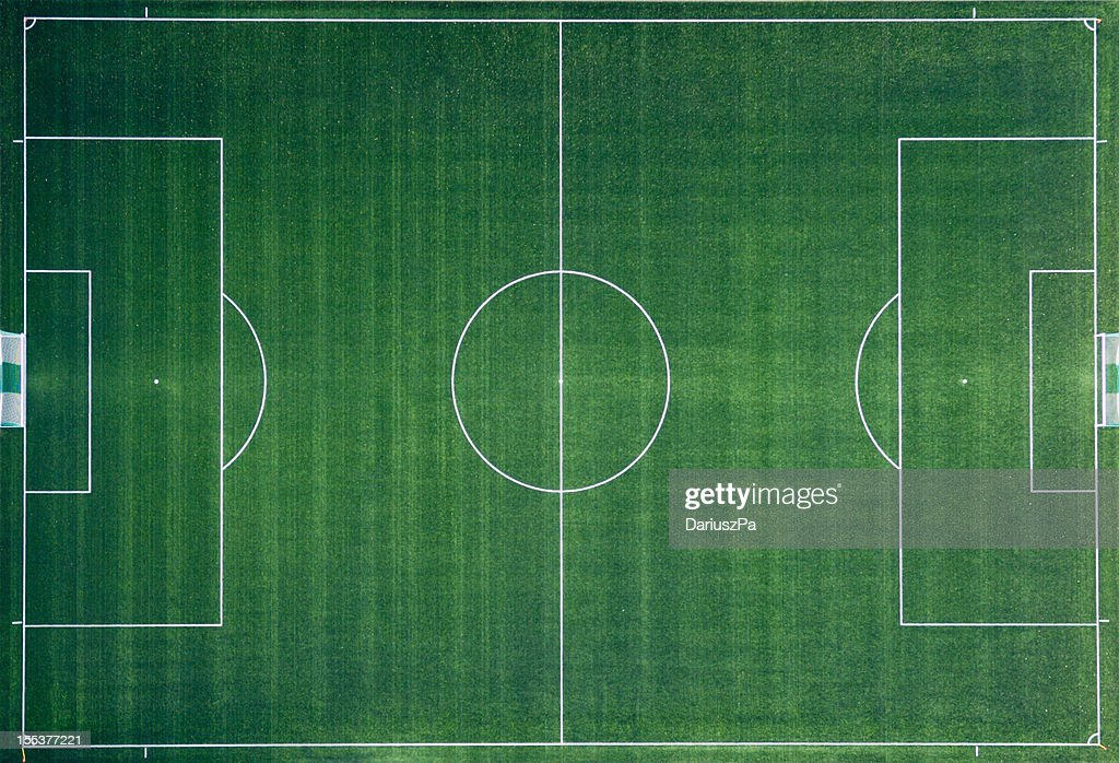 Aerial photo of Soccer Field : Stock Photo