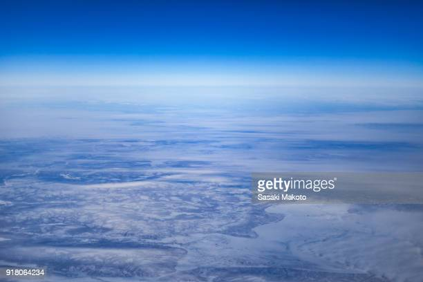 aerial photo of the Arctic Ocean