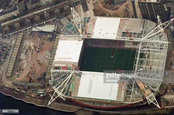Aerial photo of the Millennium Stadium during the International friendly rugby match, Wales v South Africa. Wales won the match 29 - 19. Wales were...