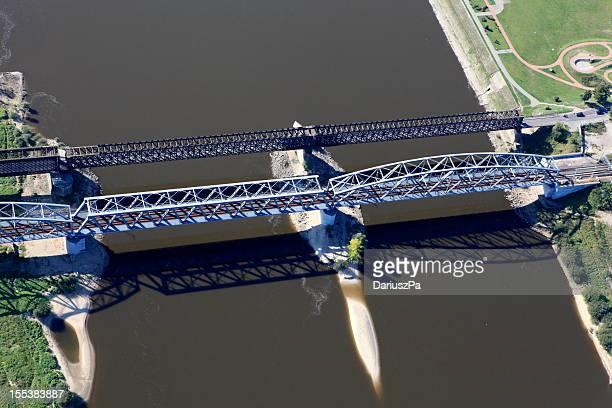 Aerial photo of the railway bridge