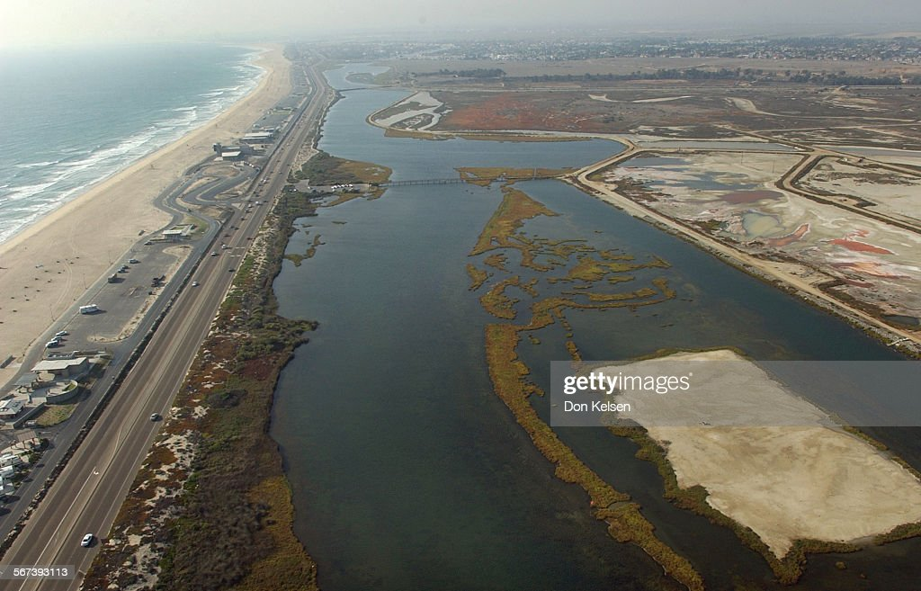 2002 Aerial Photo Of The South West Corner Of The Bolsa Chica Wetlands Area  Pacific Coast