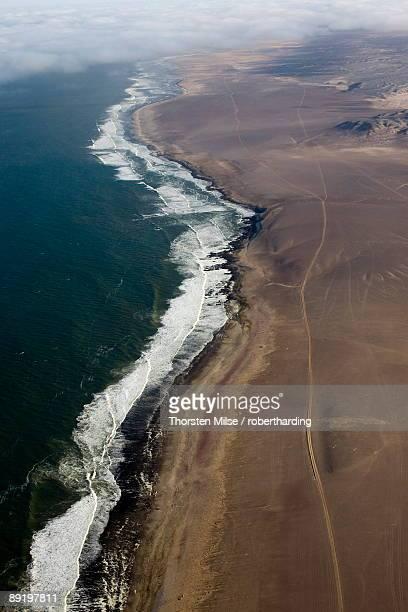 Aerial photo, Skeleton Coast Park, Namibia, Africa