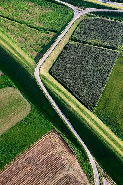 Aerial Photo Vistula Flood Embankment Wall Art