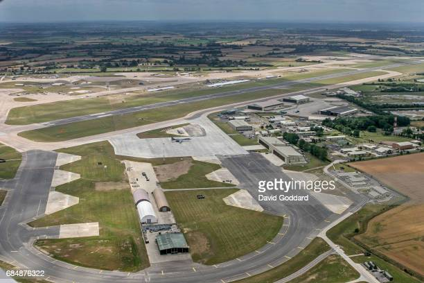 GLOUCESTERSHIRE ENGLAND JULY 19 Aerial photograph looking east of RAF Fairford Gloucestershire
