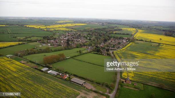 aerial photograph northamptonshire - dave ashwin stock pictures, royalty-free photos & images