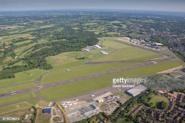 Aerial photograph of Biggin Hill Airport on June 14 2017 in Formerly known as RAF Biggin Hill the airfield dates back to 1916 It is located 13 miles...