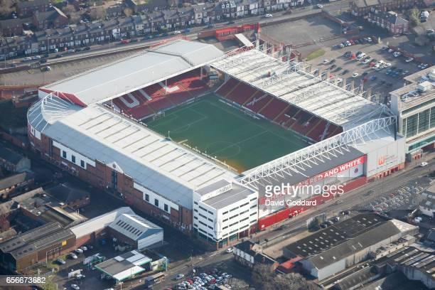 KINGDOM MARCH 06 Aerial photograph of Branwell Lane home ground of Sheffield United South Yorkshire on March 06 2015