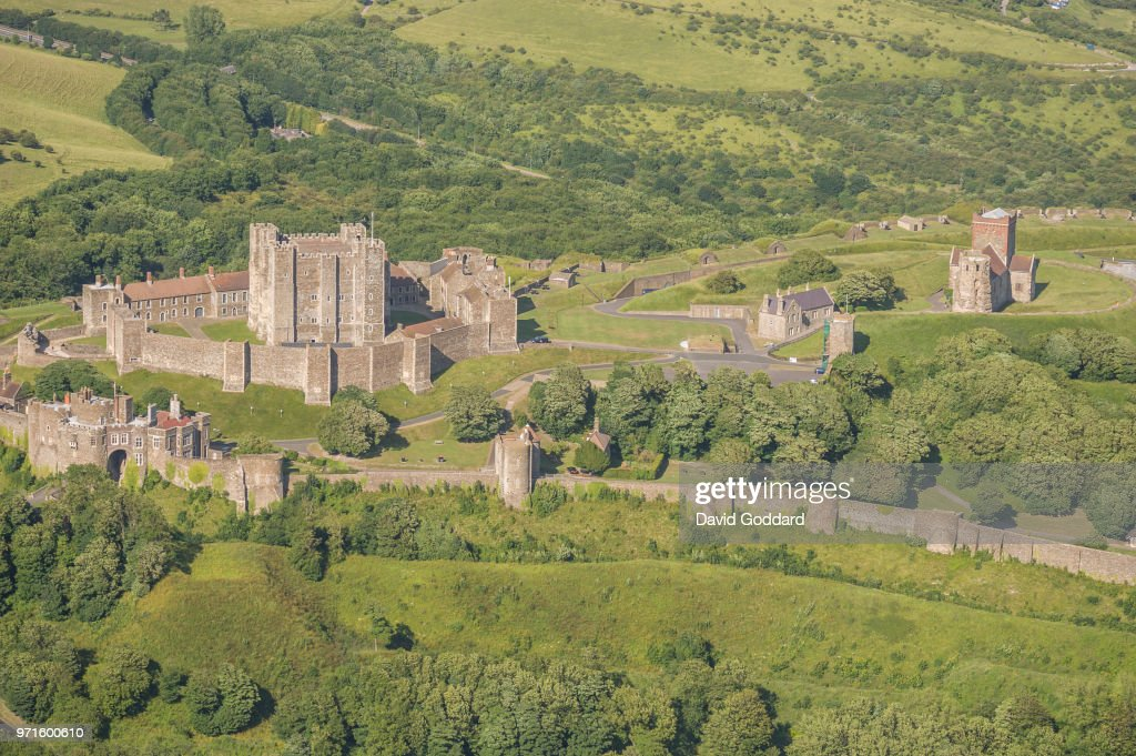 Aerial Photograph of Dover Castle, Kent : News Photo