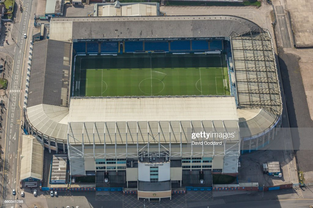Aerial photograph of Elland Road Stadium, home of Leeds United Football Club. : News Photo