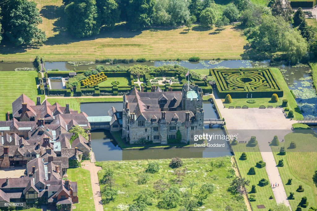 Aerial photograph of Hever Castle, Kent. : News Photo