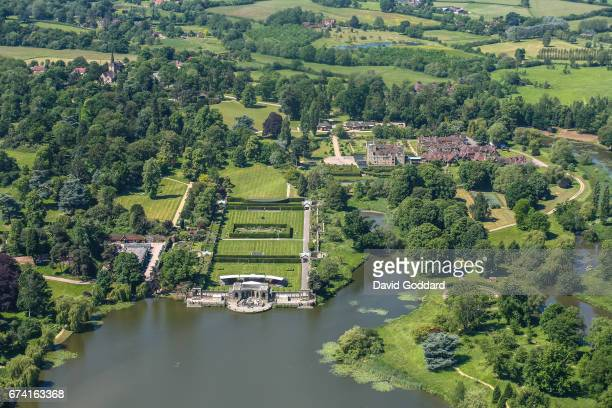 KINGDOM JUNE 06 Aerial photograph of Hever Castle childhood home of Anne Boleyn on June 06 2008 This grade 1 listed moated castle dates back to the...