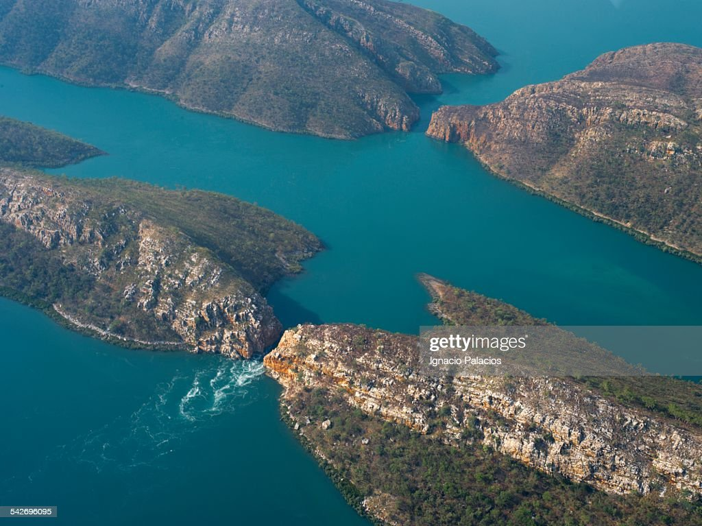Aerial Photograph Of Horizontal Falls Stock Photo