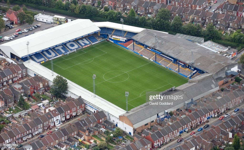 LUTON, ENGLAND, AUGUST 27. Aerial photograph of Kenilworth Road the home ground to Luton Town F.C on August 27, 2007.