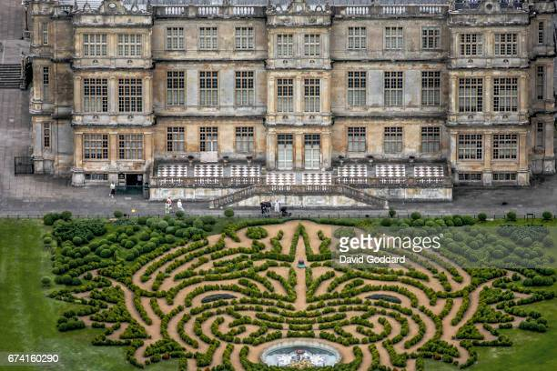 JUNE 24 Aerial photograph of Longleat House the official residence of the Marquesses of Bath on June 24 2008 This Elizabethan country house dates...