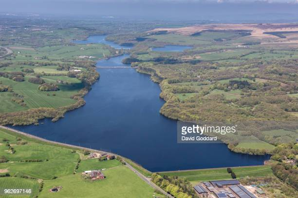 KINGDOM MAY 2018 Aerial photograph of Lower Rivington Reservoir on May 5th 2018 Located between Bolton and Chorley and 4 miles northeast of Wigan in...