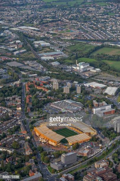 Aerial photograph of Molineux Stadium, the home ground of Wolverhampton Wanderers football club on September 29, 2008.